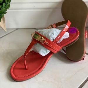 Coral Coach Sandals
